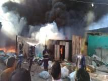 Video - लोणावळ्याजवळ भंगार गोदामाला भीषण आग