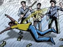 दुचाकीवरील दोघा भावांची चौघा सशयितांकडून लूट
