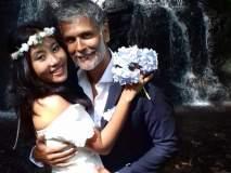 SEE PICS : मिलिंद सोमण आणि अंकिता कुंवरने केले barefoot wedding!