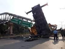 सायन-पनवेल महामार्गावरील उलटलेली क्रेन हटवली, वाहतूक संथगतीनं सुरू