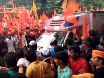 VIDEO: मराठा आंदोलकांनी रुग्णवाहिकेसाठी करुन दिला रस्ता