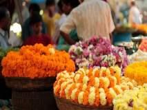 दस-यानिमित्त बाजारपेठा सजल्या, झेंडूच्या फुलांना वाढती मागणी