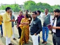 नागनदीला सुरक्षा भिंत नसल्याने धोका, निकृष्ट सिमेंट रोड उखडला