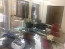 भाईंदर येथील रेल्वे तिकीट घर चोरट्याने फोडले; संगणक, प्रिंटर आदींची तोडफोड
