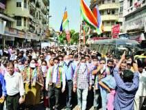 फेरीवाल्यांविरोधात महाराष्ट्र नवनिर्माण सेनेचा मूक मोर्चा, रेल्वे स्थानकांबाहेर केले झेंडा आंदोलन