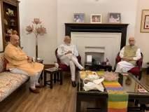 विजयानंतर नरेंद्र मोदी ज्येष्ठ नेत्यांच्या घरी;अडवाणी, मुरली मनोहर जोशींचे घेतले आशीर्वाद