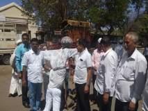 Anna Hazare Andolan : अहमदनगरमध्ये मोदी सरकारच्या प्रतिकात्मक पुतळ्याचं दहन