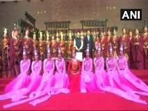 पंतप्रधान नरेंद्र मोदींचे चीनमध्ये जंगी स्वागत