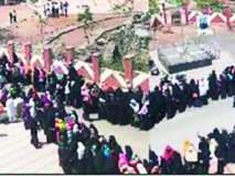 खामगावात निघाला मुस्लीम महिलांचा मूक मोर्चा