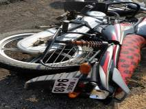 बाईक-ट्रक धडकेत पित्याचा मृत्यू तर मुलगा गंभीर जखमी