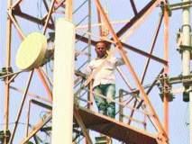 धर्मा पाटलांच्या मुलाचे टॉवरवर चढून आंदोलन