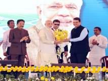 पंतप्रधान नरेंद्र मोदींच्या हस्ते नवी मुंबई आंतरराष्ट्रीय विमानतळाचे भूमिपूजन