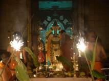नवी मुंबईतील बालाजी मंदिरात कार्तिकी पोर्णिमेनिमित्त दिपोत्सव