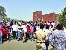 अमेटी विद्यापीठाच्या विरोधात ग्रामस्थांचे आंदोलन