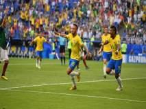 FIFA Football World Cup 2018 : ... नेमारने करून दाखवलं; ब्राझील उपांत्यपूर्व फेरीत दाखल