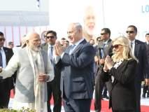पंतप्रधान नरेंद्र मोदी-इस्त्रायलचे पंतप्रधान बेंजामिन नेतान्याहूंचा अहमदाबादेत रोड शो