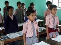 नागपूर मनपा शाळेच्या पहिल्याच दिवशी विद्यार्थ्यांना गणवेश वाटप!