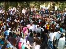 नाशिक : महाशिवरात्रीनिमित्त गंगापूरच्या सोमेश्वर महादेव मंदिरात भाविकांची गर्दी