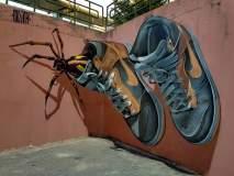 कलाकाराची अशीही कलाकारी, किडे-माकोड्यांचा शहरात सुळसुळात!