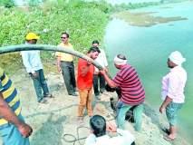 पाचोरा येथे नदीपात्रात पाणी चोरी