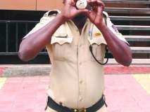 नवा प्रयोग; शंख निनाद करीत पोलिसांचे वाहतुकीचे नियोजन