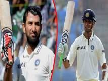 IND vs AUS 1st Test : 'द वॉल' द्रविडच्या पावलावर पाऊल टाकतोय पुजारा... हे बघा 'सेम टू सेम' आकडे