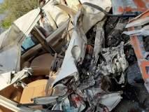 राहुरी - शनिशिंगणापूर फाट्यावर भीषण अपघात : तीन जण गंभीर