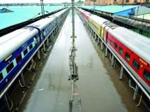 नागपुरात पावसामुळे १४ रेल्वेगाड्यांना विलंब