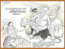 'राज'टोला... बाप्पांच्या जागी 'प्रसिद्धी विनायक मोदी' तर उंदराऐवजी अमित शाह