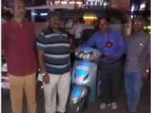 वाढीव पेन्शनच्या मागणीसाठी आंध्र प्रदेश ते दिल्ली स्कूटर वारी