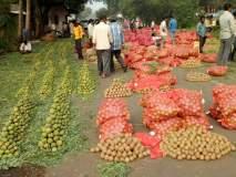 कोल्हापूर आठवडी बाजारात नवरात्रौत्सवात रताळी, खजूर, फळांना ग्राहकांची मागणी