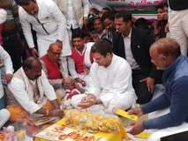 मकर संक्रांतीनिमित्त राहुल गांधींनी अमेठीत केली पूजा