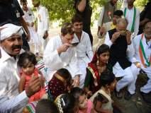 काँग्रेस उपाध्यक्ष राहुल गांधींचे कार्यकर्त्यांसह चहापान