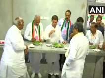राहुल गांधी यांनी दिली कर्नाटकमधील इंदिरा कँटिनला भेट