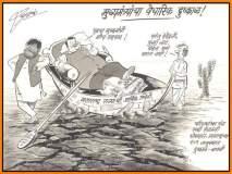राज ठाकरेंनी फडणवीसांना 'फटकार'लं; 'मीच मुख्यमंत्री' गर्जनेची कार्टुनमधून खिल्ली