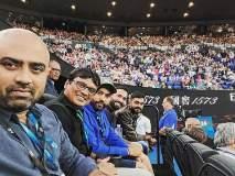 India vs Australia : ऑस्ट्रेलिया ओपन पाहायला रोहित शर्मा, दिनेश कार्तिक कोर्टवर