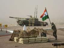 सैन्य दिनानिमित्त अहमदनगरमधल्या के के रेंजमध्ये आर्मीचा युद्धसराव