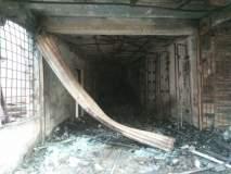 सफाळयात चार दुकानांना भीषण आग