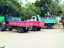 वाळूचा अवैध उपसा व चोरटी वाहतुक करणार्या वाहन मालकांना अटक व सुटका