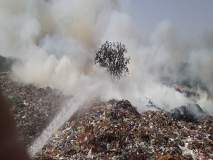 सावेडीच्या डेपोतील कचरा आगीत भस्मसात : एक हजार टन कचरा जळाला
