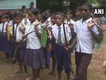 नक्षलवाद्यांची दहशत : येथे मुलांना पाटी-पेन्सिलीबरोबर धनुष्यबाण घेऊन जावं लागतं शाळेत