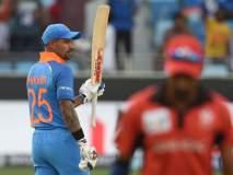 Asia cup 2018 #INDvHKG : भारताला मोठी धावसंख्या उभारण्यात अपयश, 7 बाद 285 धावा