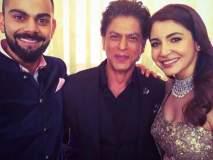 VIDEO - पाहा रिसेप्शन सोहळयात शाहरुख खानने विराट-अनुष्कासोबत केला डान्स