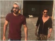 शाहरुख खान आणि रणबीर कपूरचा फोटो पाहून नेटिझन्सने केले कुत्र्याचे कौतुक... वाचा भन्नाट कमेंट्स