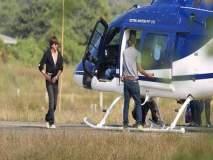 शाहरूख खान मुंबईच्या ट्रॅफिकला कंटाळला; सेटवर जाण्यासाठी वापरतोय हेलिकॉप्टर