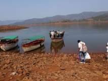 शिवसागर जलाशय आटल्याने बोटीटाकताहेत नांगर! ग्रामस्थांचे हाल