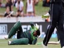 Video: डोक्यावर बॉल आदळल्याने पाकिस्तानी दिग्गज शोएब मलिक झाला बेशुद्ध