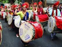 Gudi Padwa 2018 : ढोल-ताशांच्या गजरात नववर्षाचे स्वागत, तरुणांचा जल्लोष लक्षवेधी