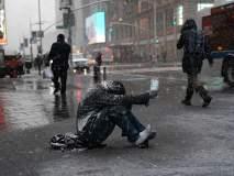 अमेरिकेत बर्फवृष्टीमुळे जनजीवन विस्कळीत