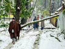 श्रीनगरचे तापमान गोठणबिंदूखाली